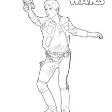 Coloriage Star Wars : Han Solo