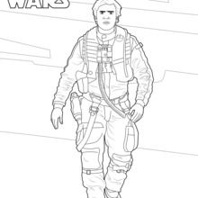 Coloriage Star Wars : Poe Dameron - Le réveil de la force