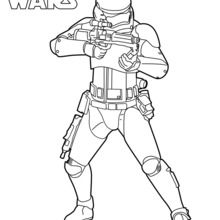 Coloriage Star Wars : Stormtrooper de l'épisode VII