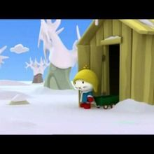 Dessin animé de Musti 3D : Bonhomme de neige