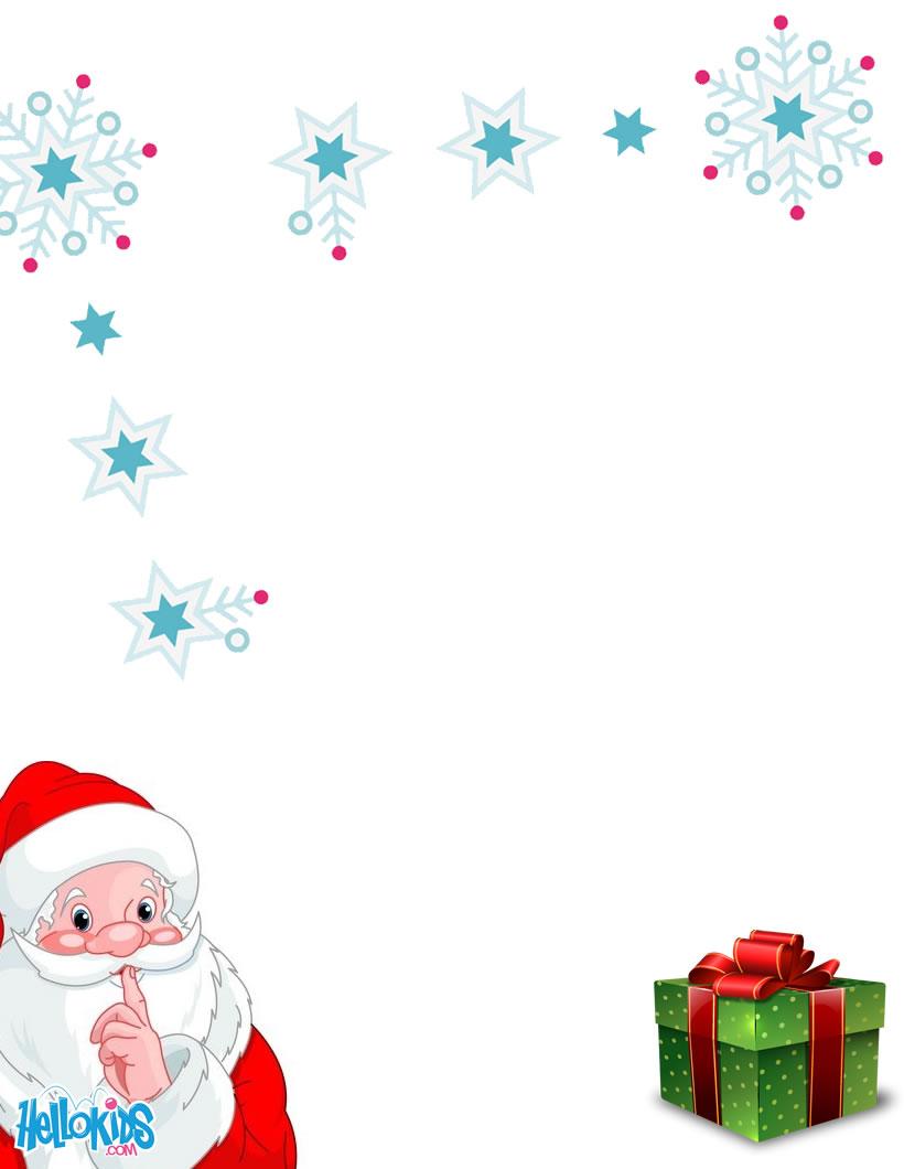 Modèles de lettre au Père Noël à imprimer