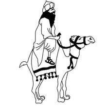 Coloriage : Balthazar, une des Rois mages