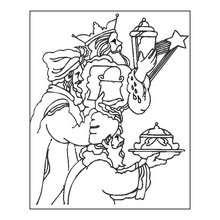 Coloriage : Or, encens et myrrhe