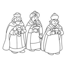Coloriage : Rois Mages