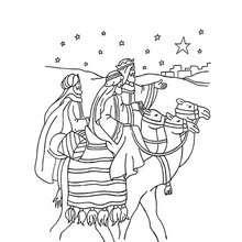 Coloriage : Une journée des trois Rois Mages