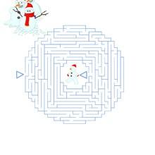 Labyrinthe des bonhommes de neige