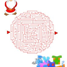 Labyrinthe : Le labyrinthe des cadeaux de noël