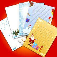 Activité : Modèles de lettre au Père Noël à imprimer