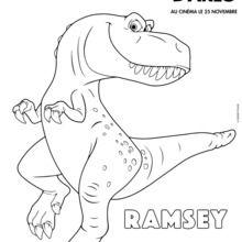Coloriage Disney : Le Voyage d'Arlo - Ramsey