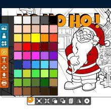 Créer un coloriage de Noël