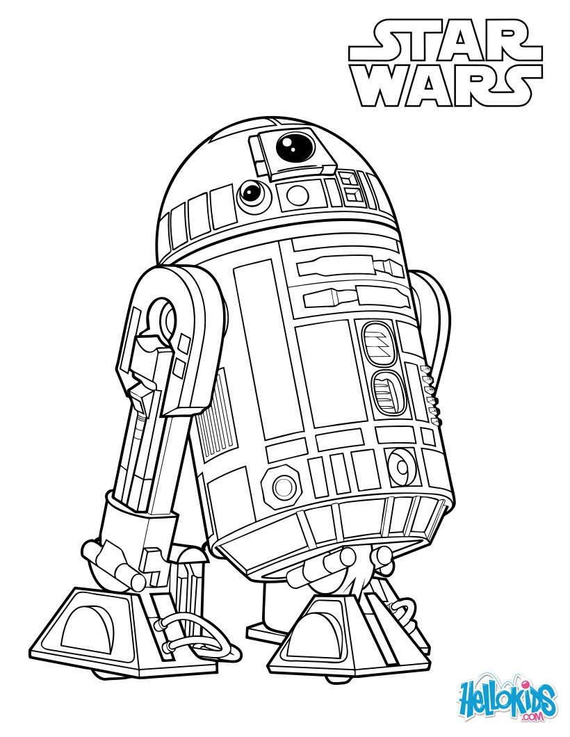 Coloriages r2 d2 le dro de de luke skywalker fr for Luke skywalker coloring page