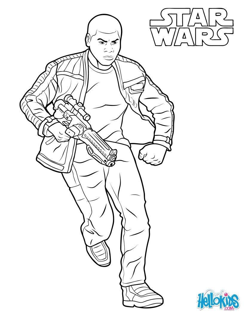 Coloriage Star Wars : Finn - Le Réveil de la Force