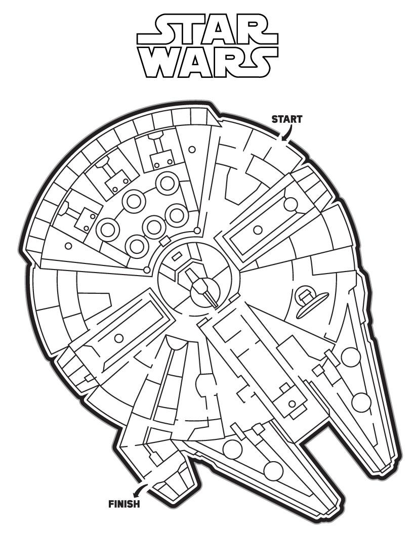 Labyrinthe du Faucon Millenium de Star Wars