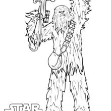 Coloriage Star Wars : Chewbacca, épisode 7