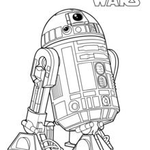 Coloriage Star Wars : R2-D2, le droïde de Luke Skywalker