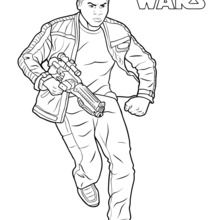 Coloriage Star Wars : Finn - Le Réveil de la Force