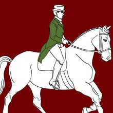 Cheval, Coloriage DRESSAGE