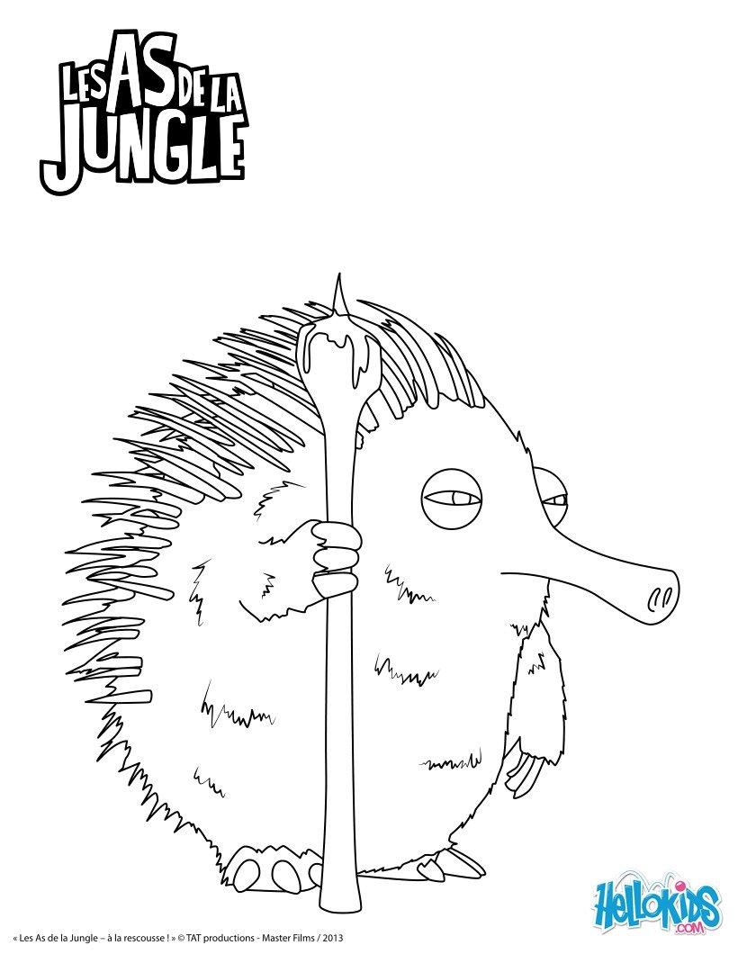 Coloriages hector - Jeux des as de la jungle ...