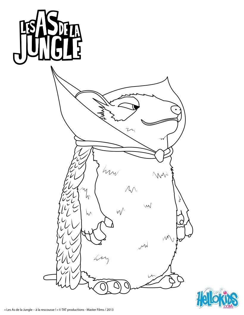 Jeux de coloriage les as de la jungle - Coloriage as de la jungle ...