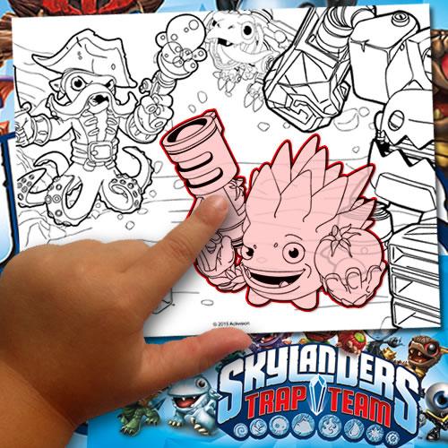Fabriquer un coloriage Skylanaders