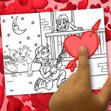 Créer un coloriage Saint Valentin