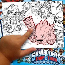 éditeur de coloriage : Fabriquer un coloriage Skylanders