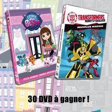 Gagnants des DVD de Littlest Petshop et Transformers