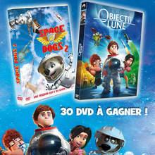 Gagnants des DVD de Space Dogs 2 et Objectif Lune