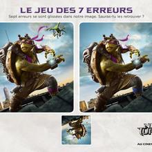 jeu des différences Ninja Turtles 2
