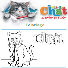 Coloriage Ma vie de chat