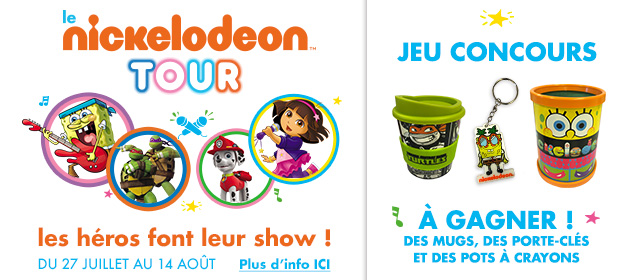 Nickelodeon tour sunelia