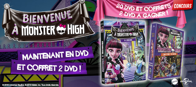 DVD monster high octobre