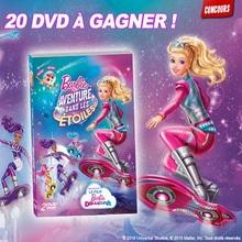 Gagne des DVD de Barbie Aventure dans les étoiles