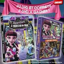 Gagne des DVD et coffrets 2 DVD de Monster High !