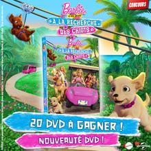 Gagne des DVD de Barbie et ses sœurs à la recherche des chiots