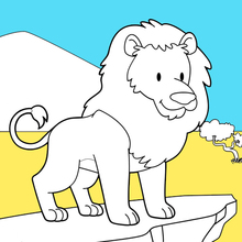 Coloriage : Roi lion