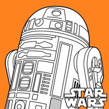Coloriage Star Wars : R2-D2 - Droïde astromech