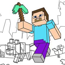 Coloriage : Faire une promenade dans Minecraft