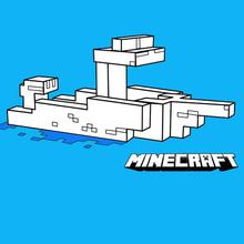 Un bateau dans Minecraft