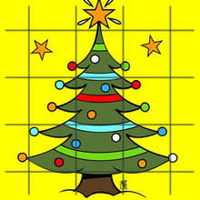 Puzzle : Briller sapin Noël