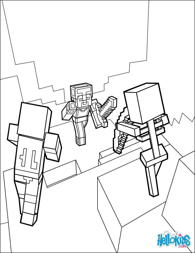 Coloring Pages Of Minecraft Skeleton