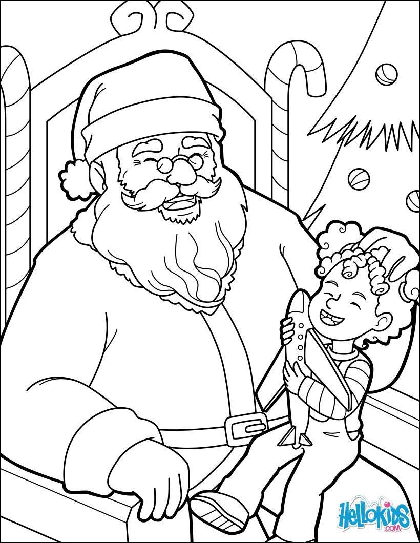 Coloriage : Le fou rire du Père Noël