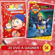 Des DVD de Oui-Oui et Sam le pompier à gagner !