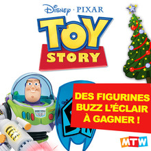 Gagne des figurines Buzz l'éclair pour Noël !