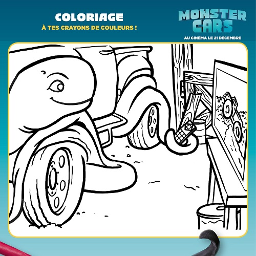 Coloriage Monster Cars - Critch