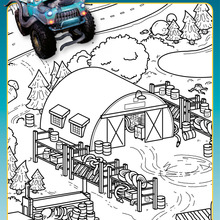 Coloriage Monster Cars - Où est Critch ?