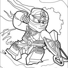 Coloriage de lego ninjago les nouveaux - Dessiner un ninja ...