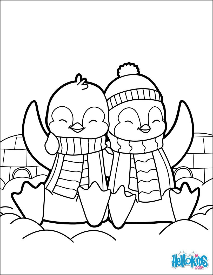 Coloriages pingouins saint valentin coloriage - Coloriage pingouin ...