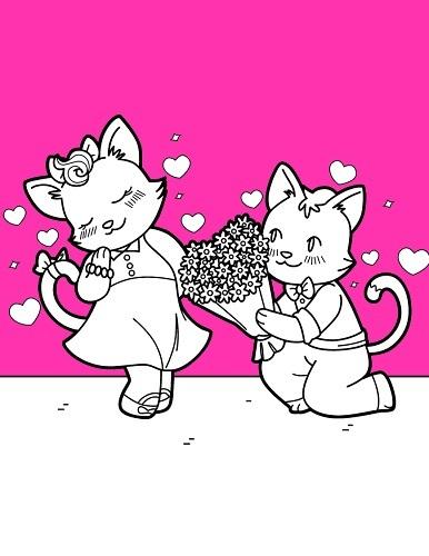 Chats Saint Valentin