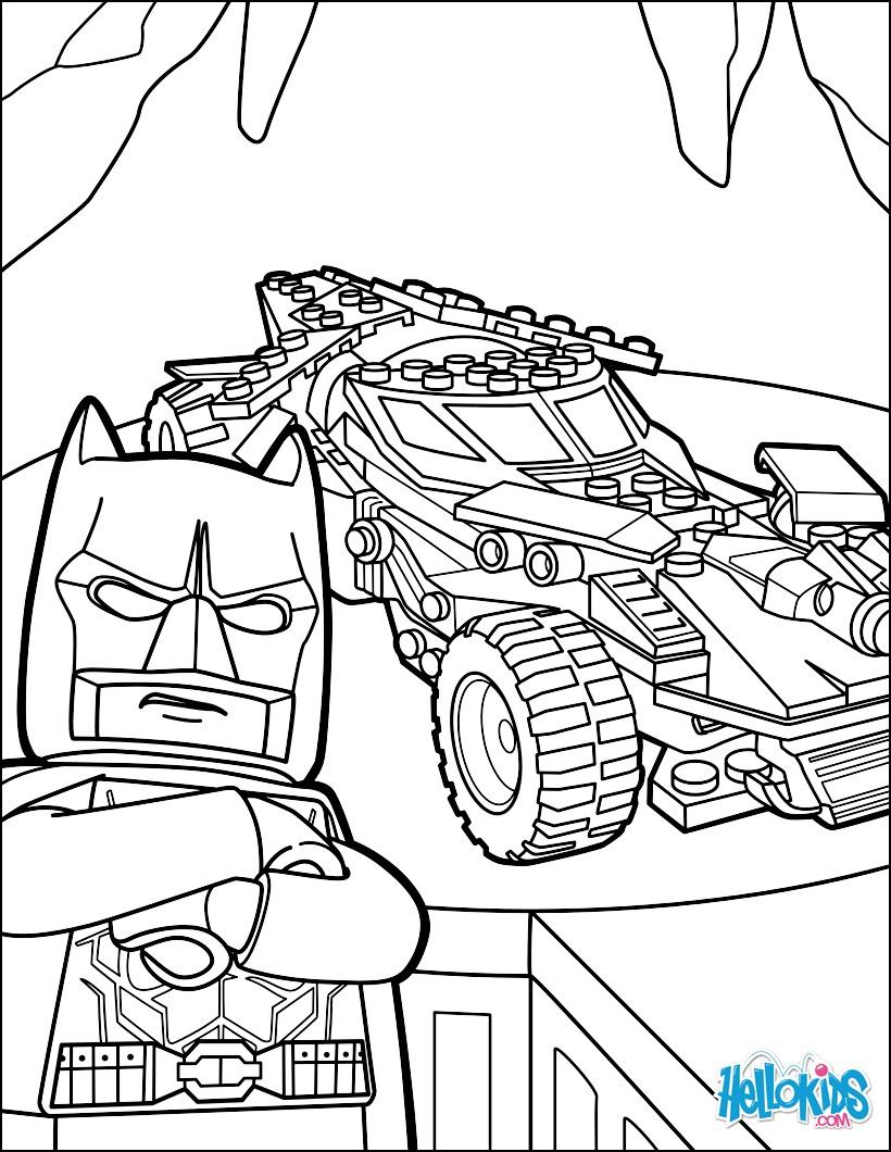 Coloriage : LEGO Batman Batmobile